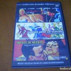 Cine: COLECCION GRANDES CLASICOS CON 3 PELICULAS - ARENAS DE MUERTE + 2 CAJA SLIM. Lote 279326613