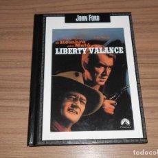 Cine: EL HOMBRE QUE MATO A LIBERTY VALANCE DVD + LIBRO 44 PAG. JOHN FORD JAMES STEWART. Lote 279370728