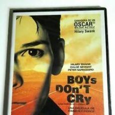 Cine: BOYS DON´T CRY - DVD - LOS CHICOS NO LLORAN - HILLARY SWANK. Lote 279375108