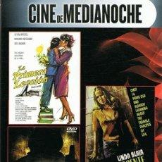 Cine: CINE DE MEDIANOCHE. DVD CON 3 PELICULAS: LA PRIMERA LECCION. NACIDA INOCENTE. THE WATCHER.. Lote 279375338