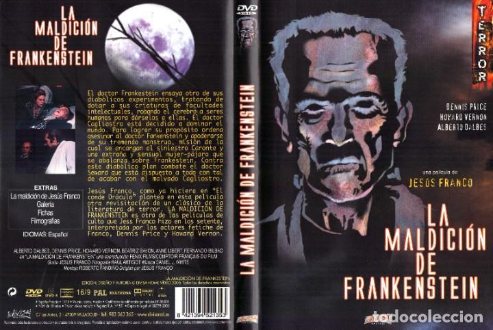 LA MALDICION DE FRANKENSTEIN 1975 DVD HOWARD VERNON DENNIS PRICE JESUS FRANCO (Cine - Películas - DVD)