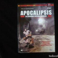 Cine: APOCALIPSIS LA SEGUNDA GUERRA MUNDIAL EN 3 DISCOS - DVD CASI COMO NUEVOS. Lote 279414758