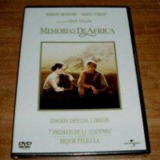 Cine: MEMORIAS DE AFRICA 2 DVD NUEVA PRECINTADO EDICION ESPECIAL DRAMA ROBERT REDFORD (SIN ABRIR) R2. Lote 279467463