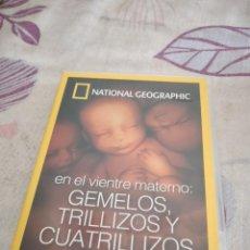 Cine: G-87 DVD CINE NATIONAL GEOGRAPHIC EN EL VIENTRE MATERNO GEMELOS TRILLIZOS Y CUATRILLIZOS. Lote 279586568