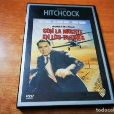 Cine: CON LA MUERTE EN LOS TALONES DVD DEL AÑO 2000 ESPAÑA ALFRED HITCHCOCK GARY GRANT EVA MARIE SAINT. Lote 279594688