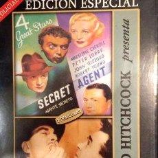 Cine: ALFRED HITCHCOCK X 2 AGENTE SECRETO NUMERO 17 DVD. Lote 280062668