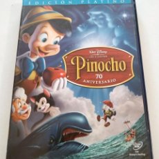 Cine: DVD PINOCHO - 70 ANIVERSARIO - EDICION PLATINO - 2 DISCOS. Lote 283519178