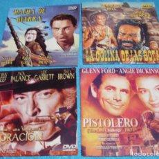 Cine: OESTE LOTE DE 4 DVD DE ALGUNA COLECCIÓN DE 2006-VER TITULOS- IMPORTANTE LEER DESCRIP Y ENVIO. Lote 285263008