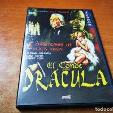 Cine: EL CONDE DRACULA DVD DEL AÑO 2002 JESUS FRANCO CHRISTOPHER LEE KLAUS KINSKI SOLEDAD MIRANDA. Lote 285578443