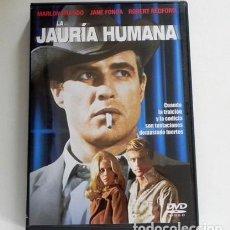 Cine: LA JAURÍA HUMANA DVD PELÍCULA DRAMA MARLON BRANDO ROBERT REDFORD JANE FONDA ROBERT DUVALL PENN BARRY. Lote 287664978