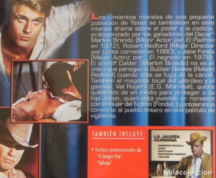 Cine: LA JAURÍA HUMANA DVD PELÍCULA DRAMA MARLON BRANDO ROBERT REDFORD JANE FONDA ROBERT DUVALL PENN BARRY - Foto 2 - 287664978