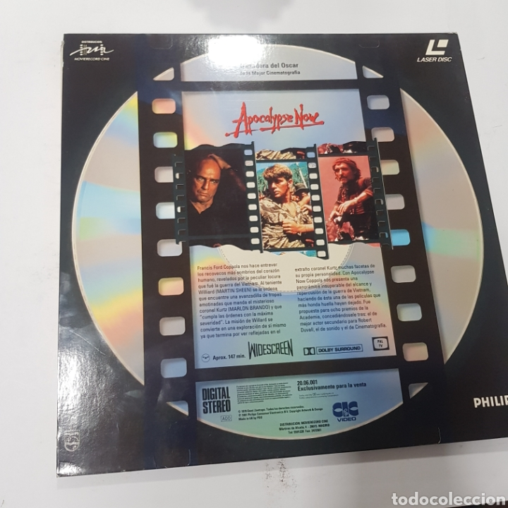 Cine: LSD 72 Apocalypse Now -LASER DISC SEGUNDA MANO - Foto 2 - 287674848