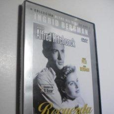Cine: DVD RECUERDA. GREGOEY PECK. INGRID BERMANG. DE HITCHCOCK. 106 +25 MIN (PRECINTADA). Lote 287897568