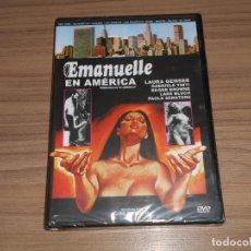 Cine: EMANUELLE EN AMERICA DVD EMMANUELLE LAURA GEMSER NUEVA PRECINTADA. Lote 288227023