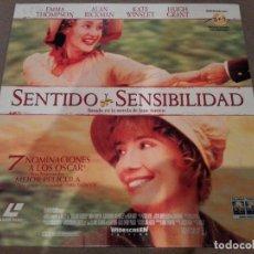 Cine: SENTIDO Y SENSIBILIDAD (SENSE AND SENSIBILITY) - LASERDISC. Lote 288411183