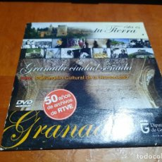 Cine: GRANADA CIUDAD SOÑADA. GRANADA PATRIMONIO DE LA HUMANIDAD + GRANADA Y LORCA. CARTÓN. BUEN ESTADO. Lote 288411733