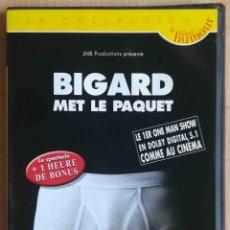 Cine: TODODVD: BIGARD MET LE PAQUET (BIGARD) THEATRE FRANCAIS.. Lote 288587198
