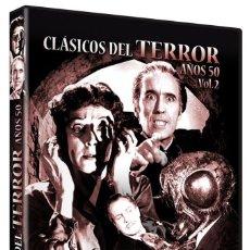 Cine: COLECCION CLASICOS DEL TERROR AÑOS 50 VOL 2 - (LA MOSCA, DRACULA, LA MOMIA...) 6 PELICULAS,DVD NUEVO. Lote 288607433