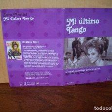 Cine: MI ULTIMO TANGO - SARA MONTIEL - MAURICE RONET - DVD ESTUCHE DE CARTON. Lote 288644978