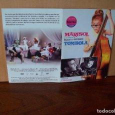 Cine: TOMBOLA - MARISOL - DIRECTOR LUIS LUCIA - DVD ESTUCHE DE CARTON. Lote 288645383