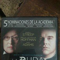 Cine: LA DUDA - JOHN PATRICK SHANLEY - MERYL STREEP, PHILIP SEYMOUR HOFFMAN - MIRAMAX 2012. Lote 288963483