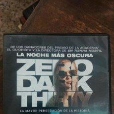 Cine: LA NOCHE MAS OSCURA (ZERO DARK THIRTY) - KATHRYN BIGELOW - JESSICA CHASTAIN, JOEL EDGERTON-UNIVERSAL. Lote 288970318