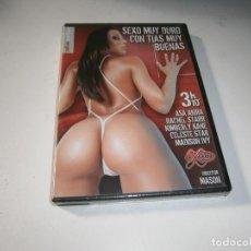 Cine: PACK 3 CINE ADULTO DVD SEXO MUY DURO CON TIAS MUY BUENAS NUEVO PRECINTADO 3 HORAS 10 MINUTOS. Lote 289335548