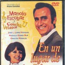 Cine: DVD EN UN LUGAR DE LA MANGA - MANOLO ESCOBAR CONCHA VELASCO GRACITA MORALES PRECINTADA. Lote 289337088