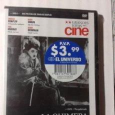 Cine: LA QUIMERA DEL ORO - CHARLES CHAPLIN - DVD NUEVO PRECINTADO. Lote 289359213