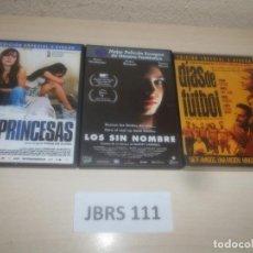 Cine: PRINCESAS + DIAS DE FUTBOL + LOS SIN NOMBRE. Lote 289684603
