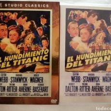 Cine: DVD EL HUNDIMIENTO DEL TITANIC - CLIFTON WEBB - BARBARA STANWYCK - ROBERT WAGNER - THELMA RITTER. Lote 289828428