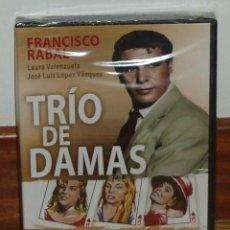 Cine: TRIO DE DAMAS DVD NUEVO PRECINTADO CINE ESPAÑOL COMEDIA FRANCISCO RABAL (SIN ABRIR) R2. Lote 289902303