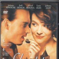 Cine: CHOCOLAT. JULIETTE BINOCHE - JOHNNY DEPP. Lote 291331183