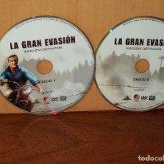 Cine: LA GRAN EVASION - STEVE MCQUEEN - SOLO DOBLE DVD EDICION DEFINITIVA Y NADA MAS. Lote 291506633