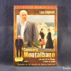 Cine: COMISARIO MONTALBANO - LAS ALAS DE LA ESFINGE / LA LUNA DE PAPEL - 2 DVD. Lote 293780188