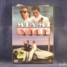 Cine: MIAMI VICE (CORRUPCIÓN EN MIAMI) - TEMPORADA CUATRO - 6 DVD. Lote 293781238