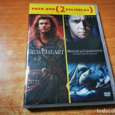 Cine: BRAVEHEART MASTER & COMMANDER (PACK DUO) 2 DVD DEL AÑO 2003 MEL GIBSON RUSSELL CROWE. Lote 293815088