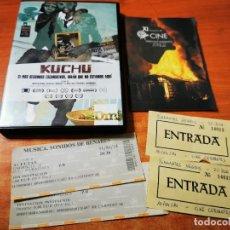 Cine: KUCHU DOCUMENTAL DVD + FOLLETO + ENTRADAS DEL AÑO 2014 KATHERINE FAIRFAX MALIKA ZOUHALI-WORRALL. Lote 293817163