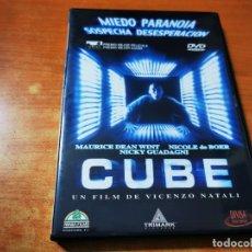Cine: CUBE DVD DEL AÑO 2000 ESPAÑA VICENZO NATALI MAURICE DEAN WINT NICOLE DE BOER NICKY GUADAGNI. Lote 293822793