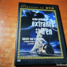 Cine: EXTRAÑOS EN UN TREN 2 VERSIONES ORIGINAL + VERSION INGLESA DVD 2001 ESPAÑA ALFRED HITCHCOCK. Lote 293823278