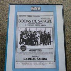 Cine: DVD -- BODAS DE SANGRE --. Lote 294069223