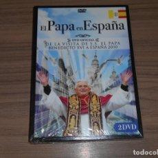 Cine: EL PAPA EN ESPAÑA EDICION ESPECIAL 2 DVD BENEDICTO XVI NUEVA PRECINTADA. Lote 294378018