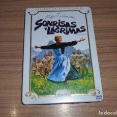 Cine: SONRISAS Y LAGRIMAS EDICION ESPECIAL CAJA METALICA 2 DVD. Lote 294478628