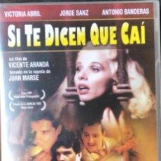 Cine: SI TE DICEN QUE CAI 1989 DVD VICENTE ARANDA VICTORIA ABRIL ANTONIO BANDERAS NUEVA. Lote 295520138