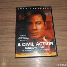 Cine: A CIVIL ACTIO (ACCION CIVIL) DVD JOHN TRAVOLTA DISCO COMO NUEVO. Lote 295630558