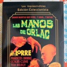 Cine: LAS MANOS DE ORLAC(KARL FREUND,1935).EDICC.COLECCIONISTA/LIBRETO. Lote 295730448