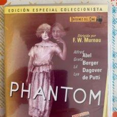 Cine: PHANTOM ( EL NUEVO FANTOMAS F.W MURNAU 1922).EDICC.COLECCIONISTA/LIBRETO. Lote 295738933