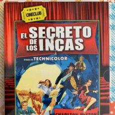 Cine: EL SECRETO DE LOS INCAS( JERRY HOPPER,1954).EDICC.COLECCIONISTA/LIBRETO. Lote 295739508