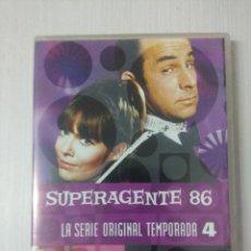 Cine: SUPERAGENTE 86/SERIE ORIGINAL TEMPORADA 4/CAJA DE 5 DVD'S.. Lote 295775988