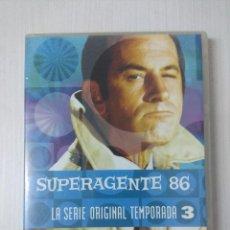 Cine: SUPERAGENTE 86/SERIE ORIGINAL TEMPORADA 3/CAJA DE 5 DVD'S.. Lote 295776113